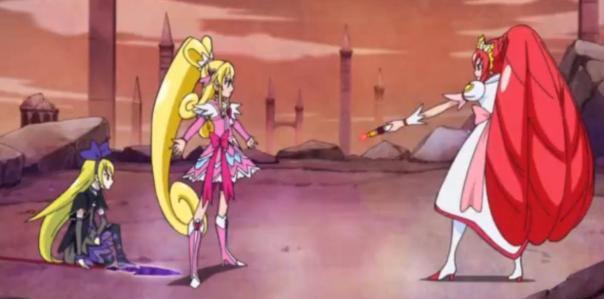 Cure Heart protecting Regina-san